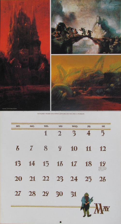 the compleat gyde to tolkien calendars